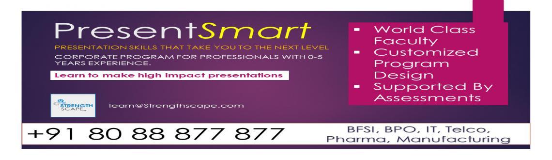 Presentation Skills Certification