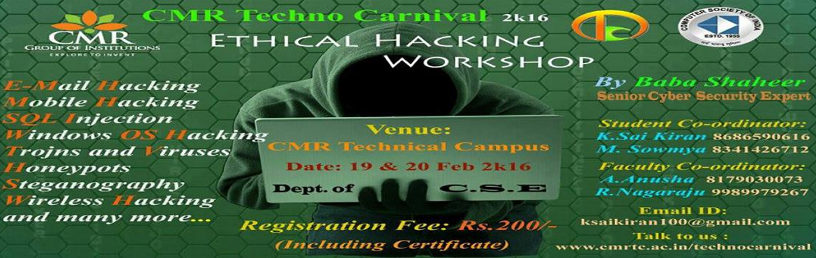 Workshop on Ethical Hacking - 2 Days - Hyderabad | MeraEvents.com