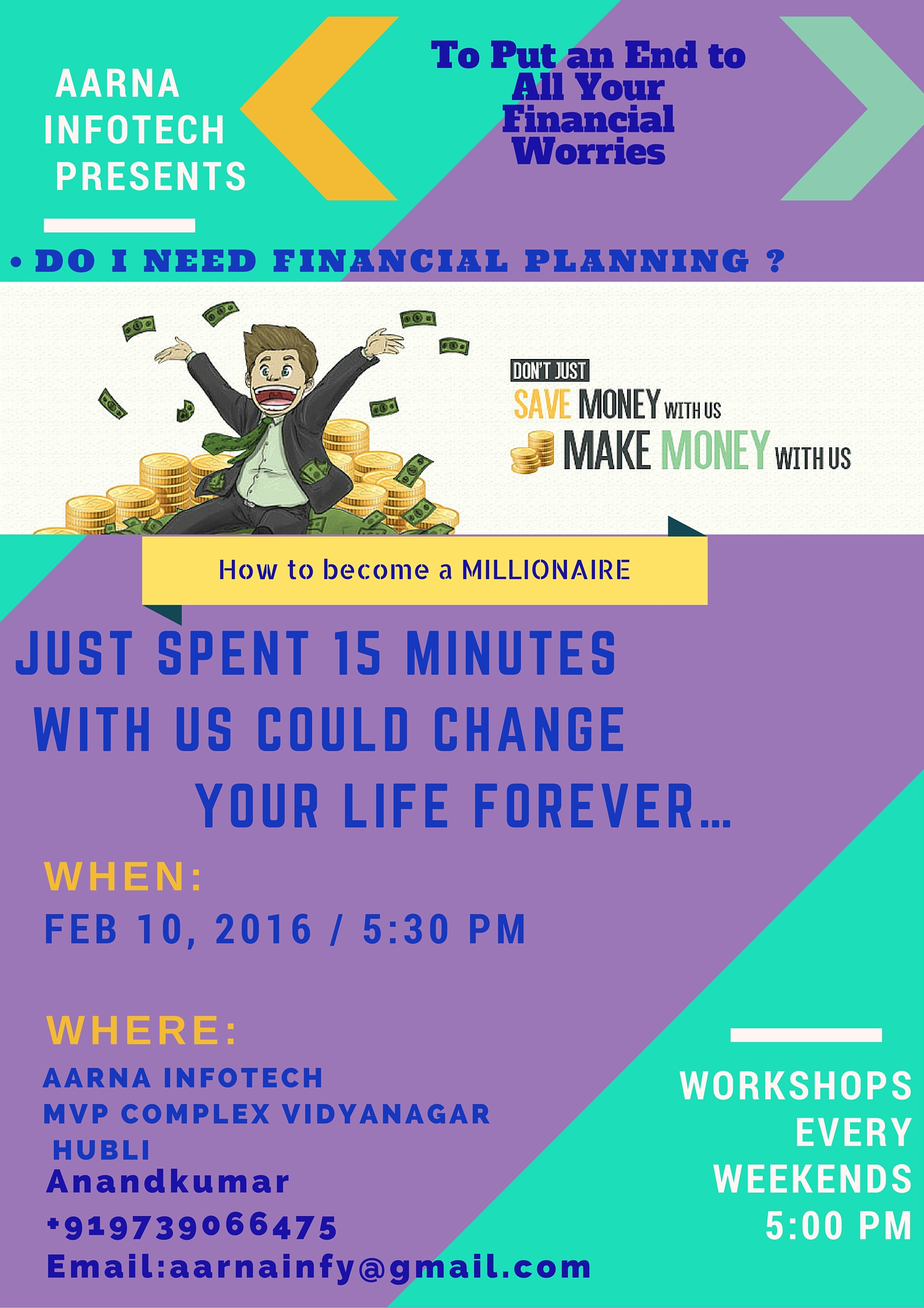 Invitation for Financial Transformation Free workshop_Aarna Infotech_Hubli  Copy