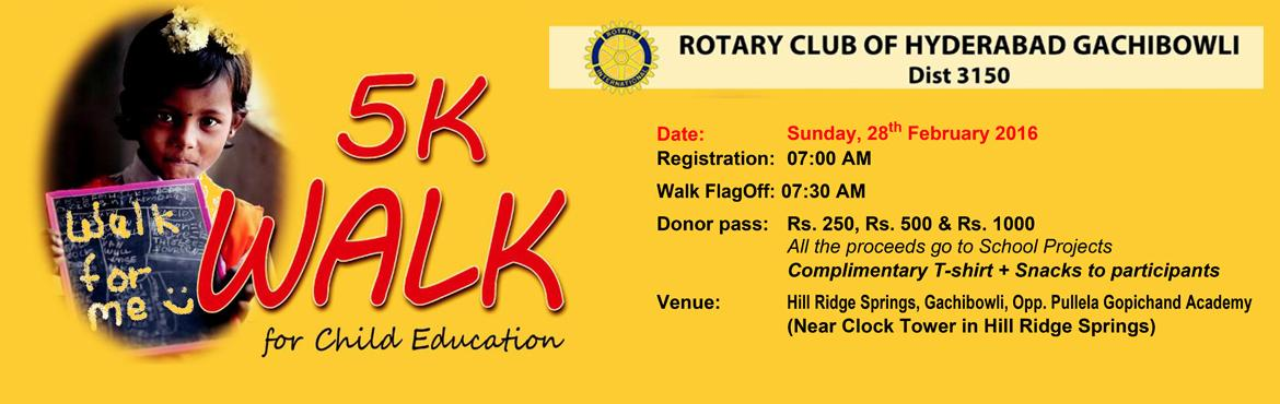 5k walk for Child Education
