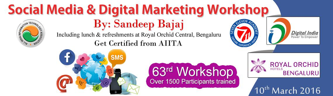 Social Media  Digital Marketing Workshop in Bengaluru