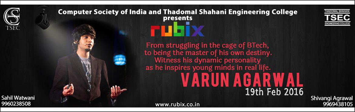 Book Online Tickets for Rendezvous with Varun Agarwal, Mumbai. Mr. Varun Agarwal, one of the youngest entrepreneurs of India, has paved his way to success and become a multi-millionaire in the process. In his very first year of engineering, he started his film-making company, \\\'Last Minute Films\\\' and went o