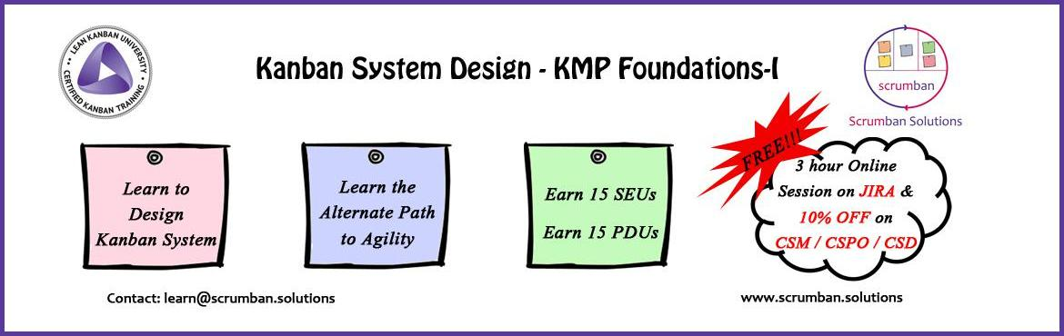 Book Online Tickets for LKU Certified Kanban System Design : KMP, Pune.   Lean Kanban University Certified Kanban Foundations Kanban Management Professional - I  Kanban Systems Deisgn   Certified Lean Kanban Foundation – Leading Evolutionary Change is a highly interactive two-day course accredited by