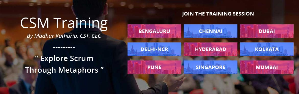 Book online tickets for Certified Scrum Master (CSM) Workshop Delhi-Ncr by Madhur Kathuri and increase the possibility of the project's overall succes