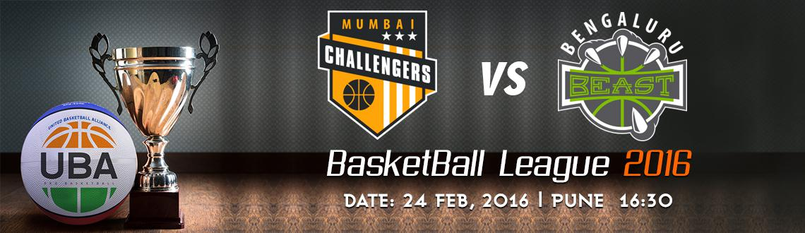 Book Online Tickets for UBA Season 2 - Mumbai Challengers Vs Ben, Pune. UBA Season 2