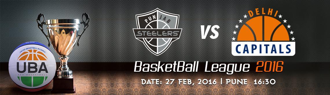 Book Online Tickets for UBA Season 2 - Punjab Steelers Vs Delhi , Pune. UBA Season 2
