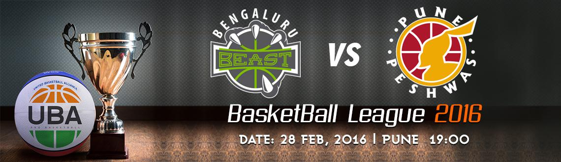 Book Online Tickets for UBA Season 2 - Bengaluru Beast Vs Pune P, Pune. UBA Season 2