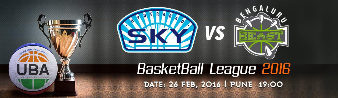 Book Online Tickets for UBA Season 2 - Hyderabad Sky Vs Bengalur, Pune. UBA Season 2