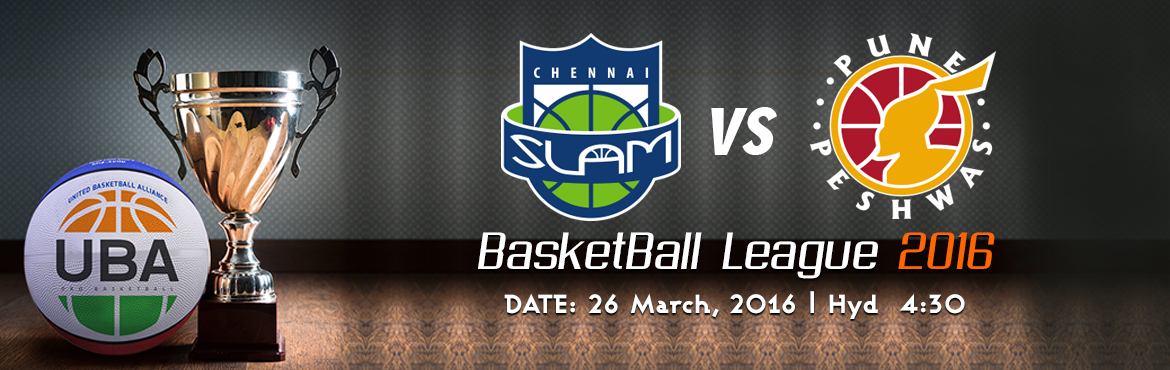 Book Online Tickets for UBA Season Chennai Slam Vs Pune Peshwas, Hyderabad. United Basketball Alliance (UBA) Season 2 HYDERABAD, INDIA UBA is India's professional basketball league with teams based in key cities across India. The UBA television team includes Emmy Award winners from the United States and an experi