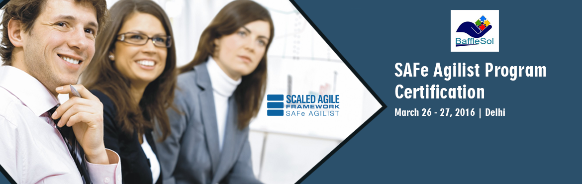Book Online Tickets for SAFe Agilist 4.0 Training - Delhi NCR, Gurugram. Course Overview: Successful application of Lean/Agile principles and practices across all levels is one of the most important challenges faced by organizations. Core Scrum offers little help on how to achieve this and unendorsed techniques such as Sc