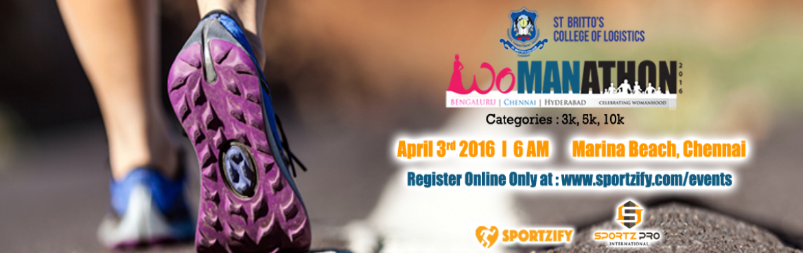 Book Online Tickets for Womanathon 2016 Chennai , Chennai. Womanathon 2016 Chennai 3rd April 2016 Join us to celebrate womanhood. Dedicate your run to the women in your life.  Womanathon is an initiative to get the Men to celebrate the Women of their lives. Your mother, sister, friend, wife, d