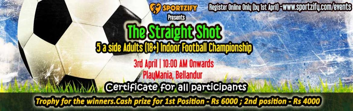 Welcome to all the footballers of Bangalore to our football tournament at Playmania Bellandur on 8th May , Sunday. Prizes of 10K to be won.