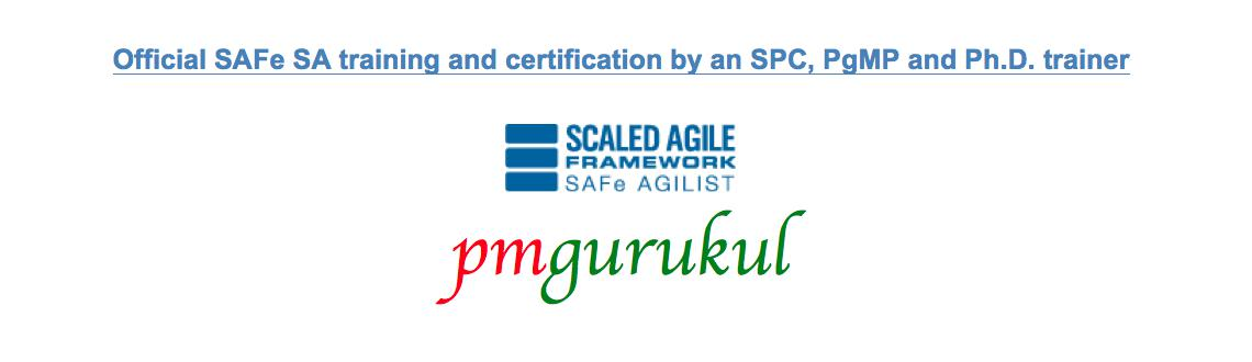 Book Online Tickets for SAFe Agilist (SA) Certification Program , Pune. Objective: The SAFe Agilist (SA) certification program is for executives, managers and Agile change agents responsible for leading a Lean|Agile change initiative in a large software enterprise. It validates their knowledge in applying the Scaled