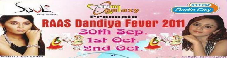 RAAS Dandiya Fever 2011 @ Pune from 30th Sep to 2nd Oct 2011