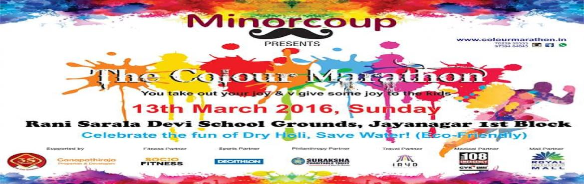 Book and Buy Online tickets for The Colour Marathon Holi festival Tickets. Let's experience the special Holi festival with colors, rain dance, DJ, and
