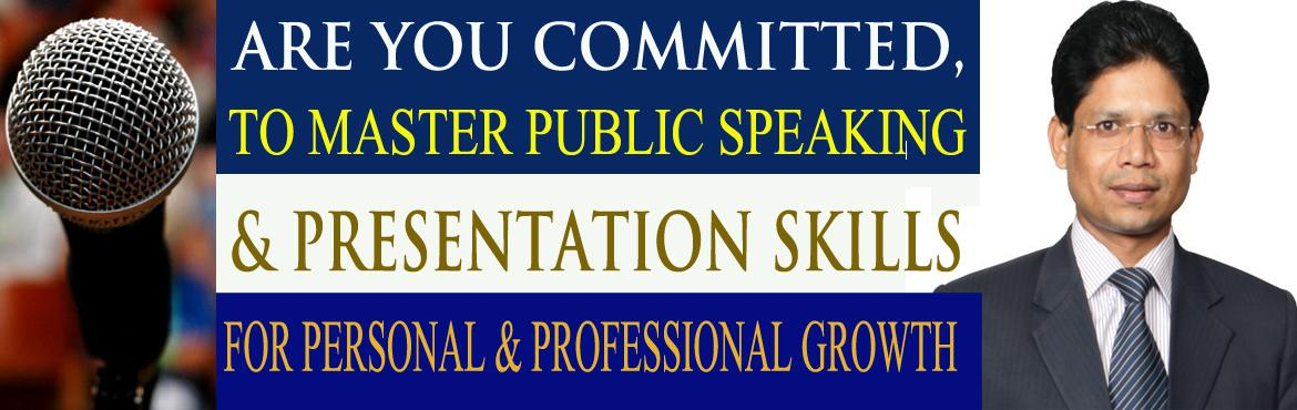 Book Online Tickets for Public Speaking, Leadership and Stress M, Hyderabad. Mastering Public Speaking and Presentation Skills is an essential ingredient to progress in our professional life and to achieve leadership role.  As a leader you have to lead other people towards your mission and vision. You have to deal with