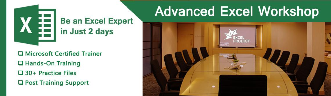 Book Online Tickets for Advanced Excel Workshop in Bangalore Jan, Bengaluru. Exclusive Advanced Excel Workshop in Bangalore Be an Microsoft® Excel® Pro in Just 2 days  Our Advanced Excel courses will arm you with the knowledge of how to use Excel more effectively and efficiently and ultimately help you