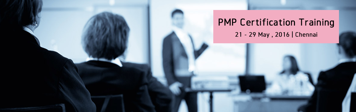 Book Online Tickets for PMP Certification Training Course in Che, Chennai. http://www.knowledgehut.com/project-management/pmp-certification-training-chennai  Overview:  Project Management Professional (PMP)® certification is the most distinguished professional qualification for project managers offered by Pr