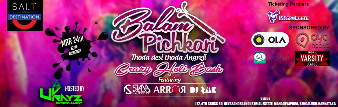 Balam Pichkari - Holi Celebration 2016 with Rain Dance