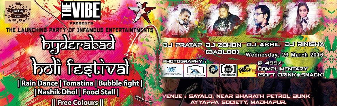 Hyderabad Holi Festival at Sayalo Cafe
