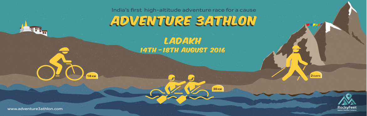Book Online Tickets for Adventure 3athlon 16 - Ladakh, Leh. #RockyFeet #Ladakh #Triathlon #race #JnK #trek #cycling #rafting #offroad #altitudetriathlon #adventuretriathlon #Zanskar #Indus #MarkhaValley #gandalapass #spituk #adven