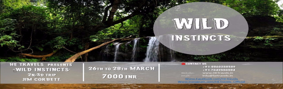 Book Online Tickets for WILD INSTINCTS, Ramnagar. ARE YOU THE ONE WHO LOVES ADVENTURE ? ARE YOU THE ONE WHO IS LOOKINGTO SPENT SOME TIME PAMPERING YOURSELF IN A SOLITARY RESORT AMIDST GREENS & A SWIMMING POOL TO SOAK IN ?? ARE YOU THE ONE WHO IS ALLERGIC STAYING BACK AT HOME DURING A LONG WEEKEN