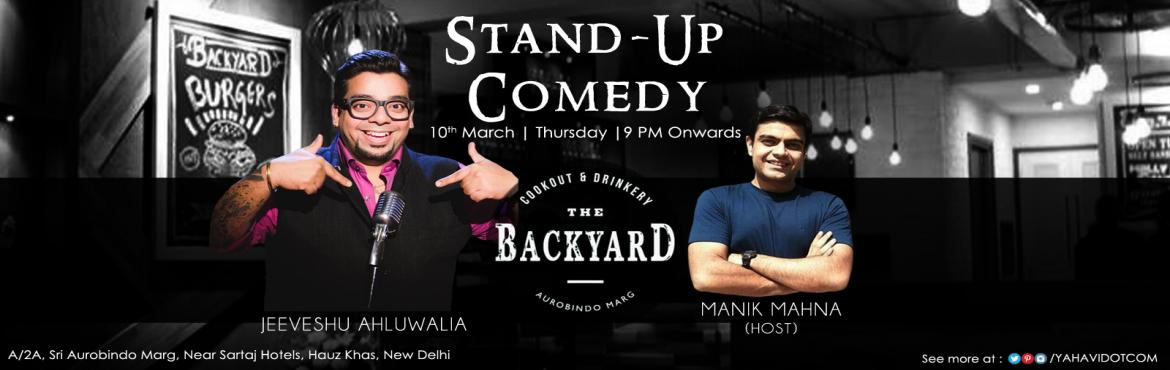 Book Online Tickets for  Stand-Up Comedy with Jeeveshu Ahluwalia, NewDelhi. Up for a laugh riot? Yes ! The Backyard, Green Park will surely make your Thursday a memorable one. #Comedy #Delhi #Event Get your \'FREE BEER\' offer on this link: http://bit.ly/1p3yX7RThey say laughter is the best medicine, so we thought why n