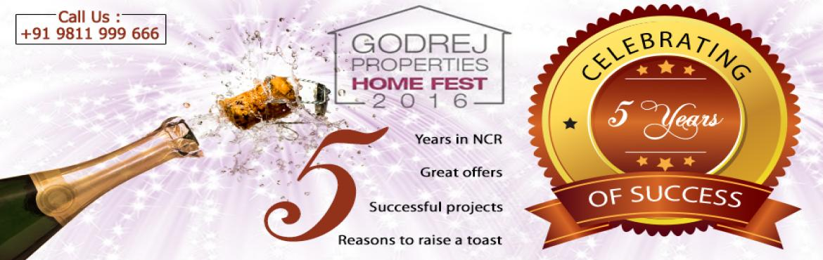 "Book Online Tickets for Godrej Home Fest 2016, Gurugram. ""Godrej Properties"" which is one of the most reliable and leading name of the real estate industry is celebrating its 5 years completion of togetherness in Delhi/NCR through ""Home fest 2016"" in which they are proffering mind b"
