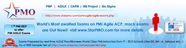 World\'s Most awaited Exams on PMI Agile ACP, mock exams are Now Out!!  visit www.StarPMO.com for more details