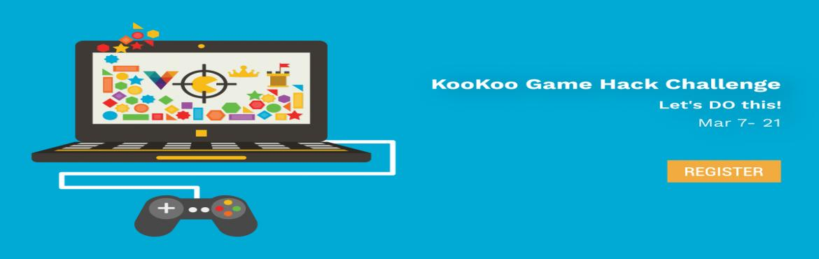 Book Online Tickets for KooKoo Game Hack Challenge, Bengaluru. Let your Imagination Fly, Create the Next Big Thing on KooKoo.!!How about playing game using telephony? Introducing the KooKoo challenge where you get to build cool products (like the ones mentioned above!) on top of the KooKoo API.Integrate your gam
