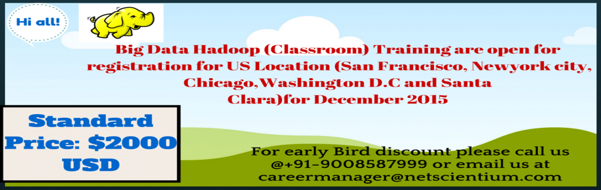 Big Data Hadoop Training at US Location -Dollar 2000/- USD