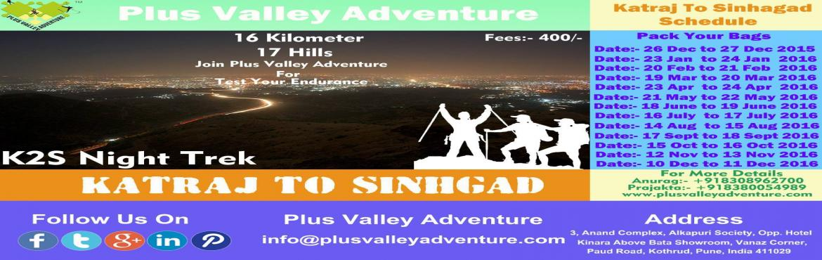 Katraj to Sinhagad(K2S) Night Trek