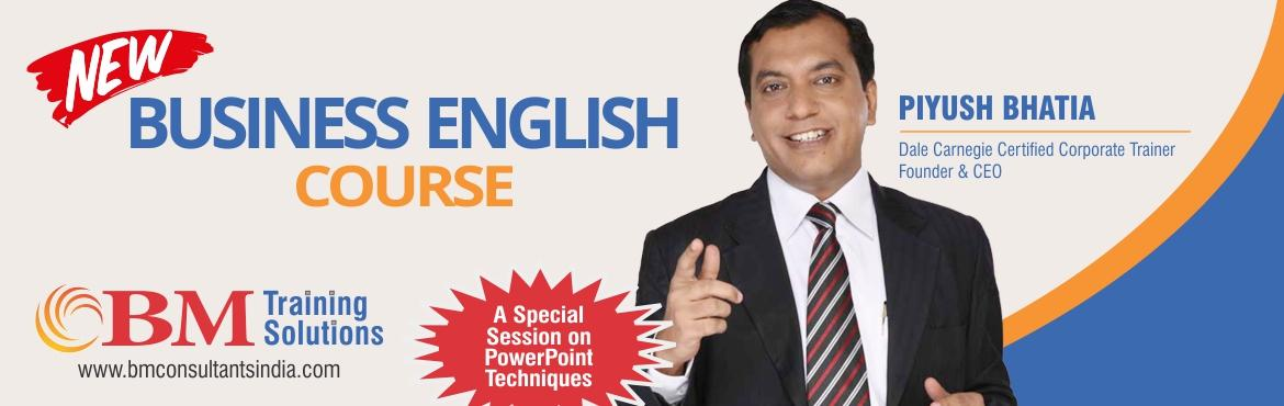 Book Online Tickets for NEW BUSINESS ENGLISH COURSE - 2, Mumbai. TRAINERS PROFILE • Dale Carnegie Certified Corporate Trainer• 12 years Corporate work experience with DSP Merrill Lynch, ICICI Securities• Conceptualized and designed English Training Business - four Centers in Mumbai• Conducted C
