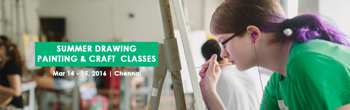 Book Online Tickets for SUMMER CLASS, Chennai. drawing classes for Age Group-4 to 10 Painting Class for Age Group 10 to 20 one session- 10 Days Daily 2 Hours Contact: Jay Jay at 9840 595 595 www.chennaiartschool.com
