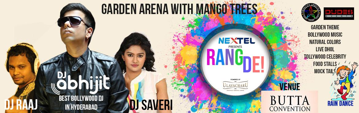 Book Online Tickets for Rang De Hyderabad 2016 at Butta Conventi, Hyderabad. Rang De Hyderabad 2016 at Butta Convention   Holi is a spring festival, also known as the festival of colours or the festival of shaing love. It us an ancient Hindu religious festivak which has become popular with non-Hindus in many parts of Sou