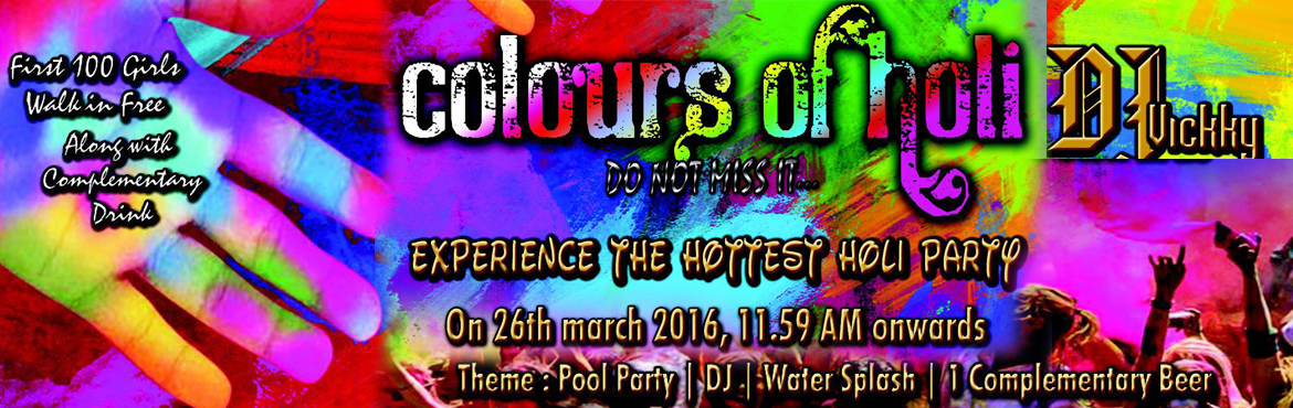 Book Online Tickets for COLOURS OF HOLI at Game On Resort, Bengaluru. This Saturday, 26th March 12pm onwards come and celebrate the biggest holi bash and one of the outdoor venues in Bangalore, let the colours of holi spread the message of peace & Happiness to all. With Unlimited Entertainment ,1 Complementary beer