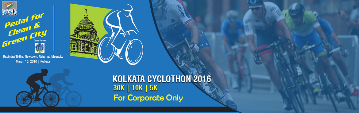 Book Online Tickets for Kolkata Cyclothon 2016 for Corporates, Kolkata. Time comes for the Corporate to Ring the Bell........ KOLKATA CYCLOTHON 2016 CORPORATE RIDE Pedal for Reasons & Pedal for your passion INDIVIDUAL OR, TEAM CHAMPIONSHIP 3 Km ( a loop) from Newtown on June 12, 6.00 A.M.   City (Kolkata) w