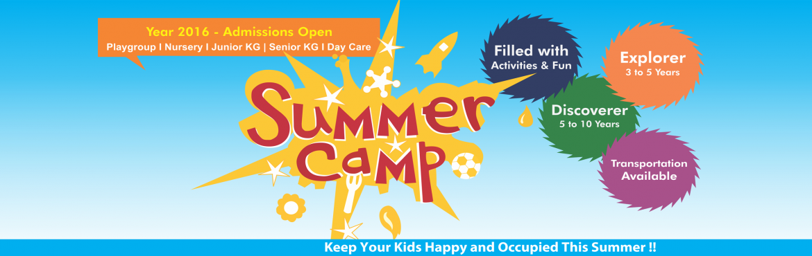 "Book Online Tickets for Summer Camp 2016 for Kids, Bengaluru. Keep Your Kids Happy and Occupied This Summer !! Holidays brings with them the age old refrain of a young restless mind ""I'm bored.""Heritage Kids brings you the perfect solution - Summer Camp that has weekly themebased activities an"