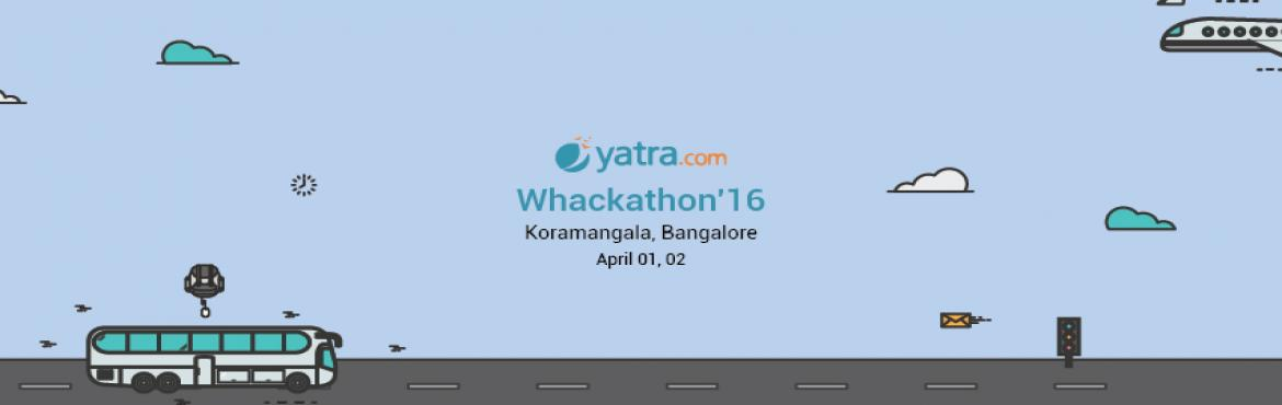 Book Online Tickets for Whackathon Bangalore, Gurugram. Yatra.com is an Indian online travel agency and a travel search engine.Yatra.com is today ranked as the leading provider of consumer-direct travel services in India. Yatra.com is a one-stop-shop for all travel-related services. A