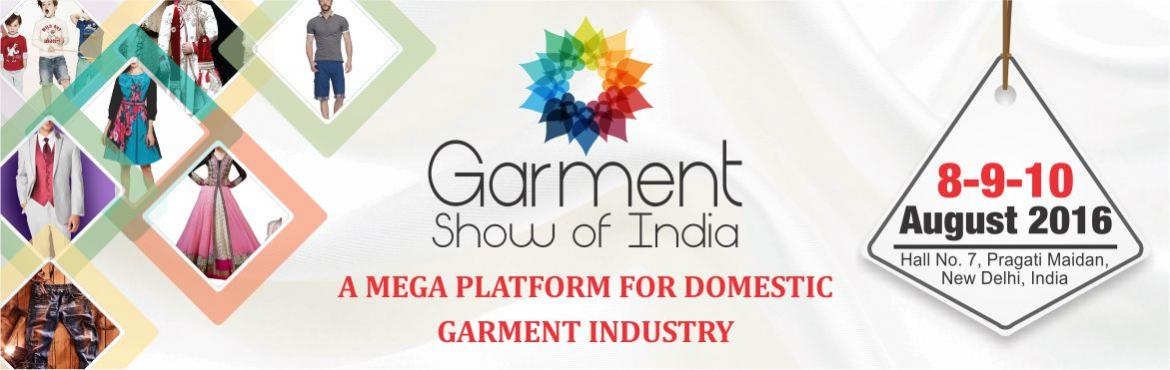 Book Online Tickets for Garment Show Of India , NewDelhi. About GSI: (GARMENT SHOW OF INDIA)  Garment show of India is a platform where garment manufacturers, retailers, brands, wholesalers. distributors, traders, and retail chains can meet, network and do business.   Meet potential manu