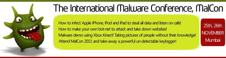 The International Malware Conference, MALCON 2011