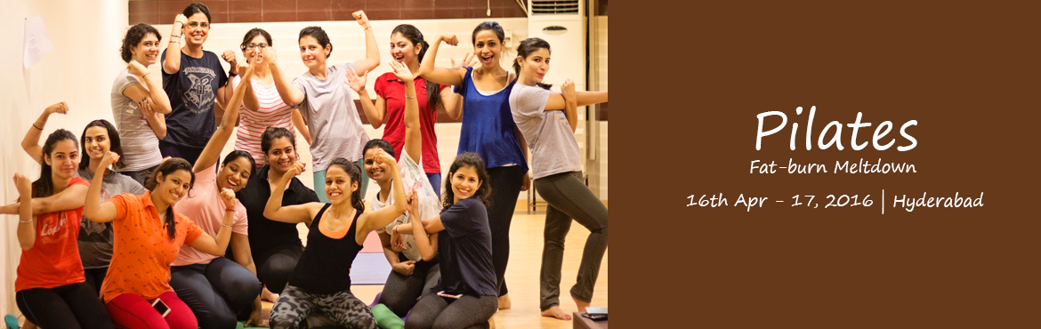 Book Online Tickets for Pilates with Nisha in Hyderabad, Hyderabad. Pilates Fat-burn MeltdownPilates is similar to yoga but emphasizes your body's core —the abdomen, obliques, lower back, inner and outer thigh, hips etc. Pilates develops much of what exercisers need — strength, flexibility, muscular
