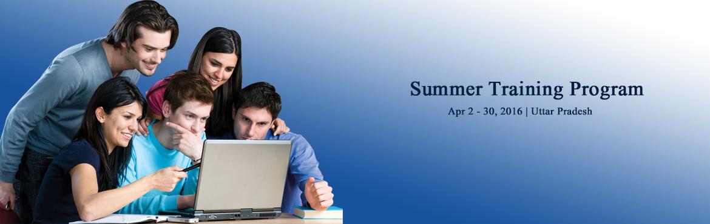 Summer Training Program 2015-2016
