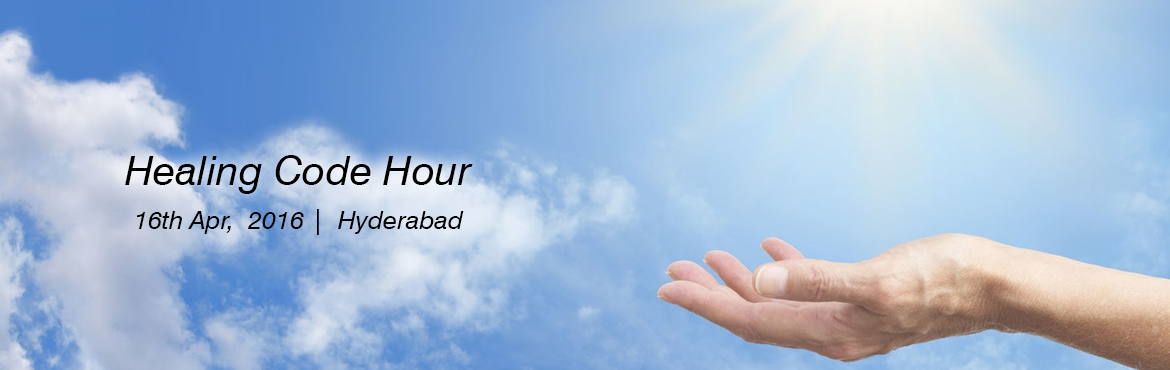 Book Online Tickets for Healing Code Hour, Hyderabad. Healing Code for any issue / gratitude / entitlement being done for an hour. This has been originally founded by Dr Alex Lloyd.
