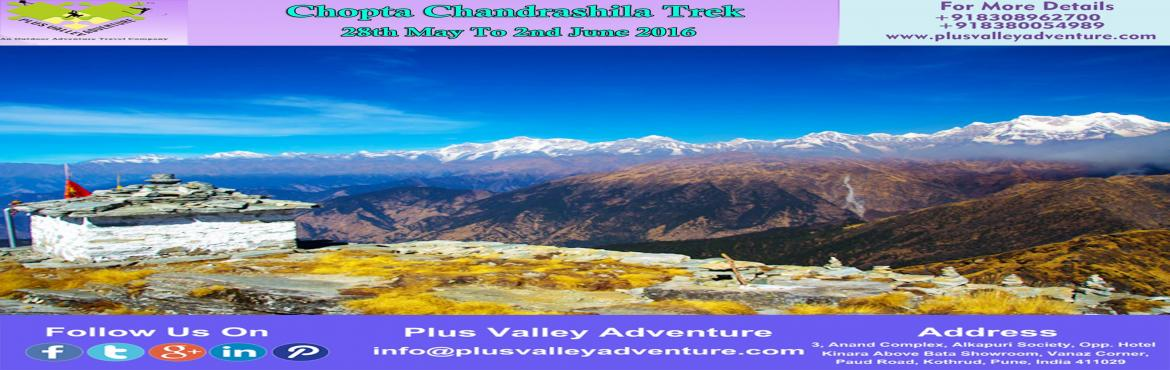 Book Online Tickets for Chopta Chandrashila Trek, Chopta. Chopta - Chandrashila TrekRegion :- Uttarakhand Duration :- 6 Days Grade :- Easy Max Altitude :- 13100 ft Approx Trekking Km :- 30kmsStart & End Point:- Haridwar To HaridwarHow to Reach:-By Train:-Haridwar is the nearest