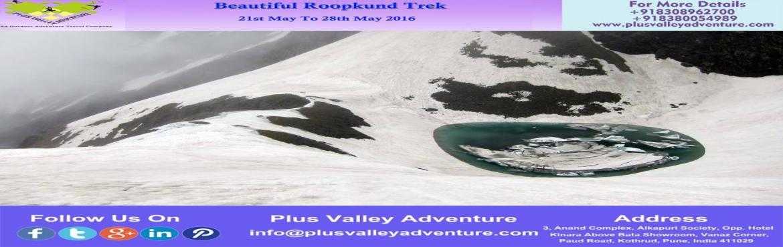 Book Online Tickets for Roopkund Trek, Haldwani. Roopkund TrekRegion: - UttarakhandDuration: - 08 DaysGrade: - Moderate to DifficultMax Altitude: - 15,696 Ft.Approx Trekking Km: - 53 kmsStart & End Point:-Lohargunj To Lohargunj(Note:- Plus Valley Adventure Arrange