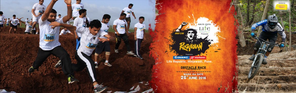Book Online Tickets for Kolte Patil Life Republic presents Mirch, Pune.     Details:  Experience the spirited and bustling fun obstacle marathon at Kolte Patil Life Republic presents Mirchi Ruggedian powered by Giant Starkenn. This monsoon  Kolte Patil Life Republic presents Mirchi Ruggedian powered by Gia