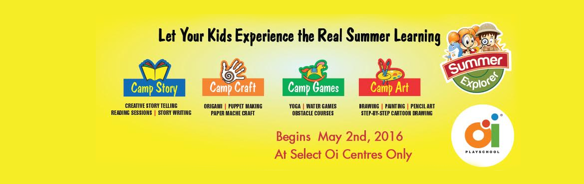 Summer camp in Oi Playschool Manikonda  - Hyderabad