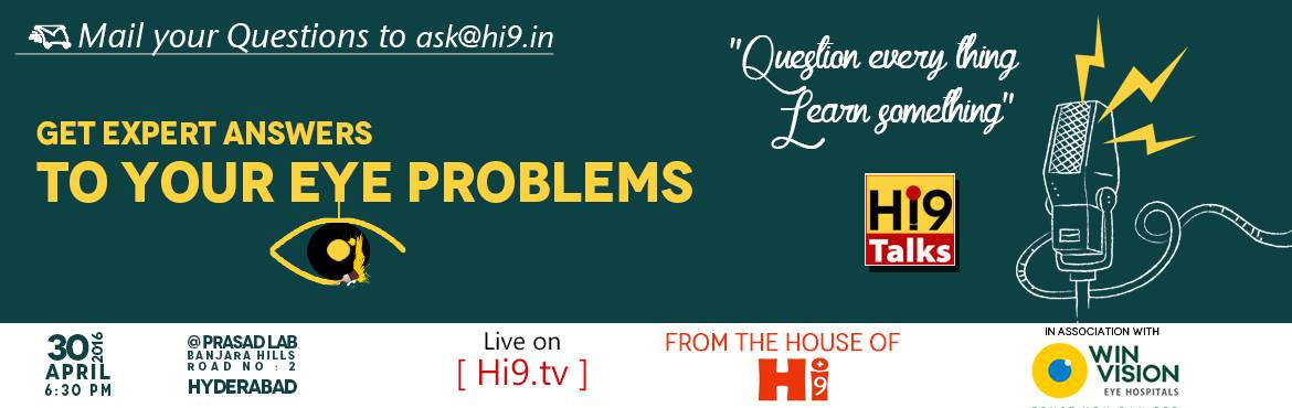 Health Talks Live Show Interaction on eye problems