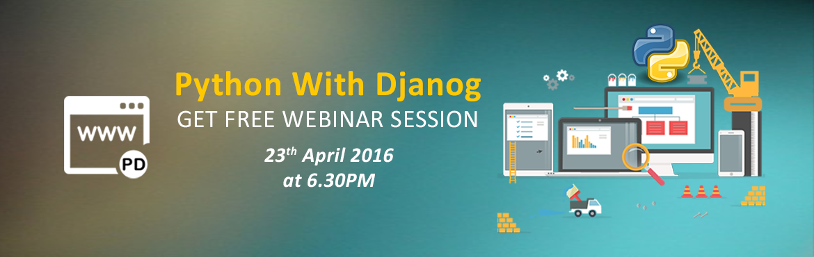 Book Online Tickets for Python Django Webinar - Helping To Build, Gurugram. Python Django Webinar - Helping To Build High Quality Web Saturday, April 23, 2016 at 06:30 pm (IST) for our latest Free Python Django webinar.Python Django : Helping to build high quality Web applications with minimal fuss An EasyLearning.guru Webin